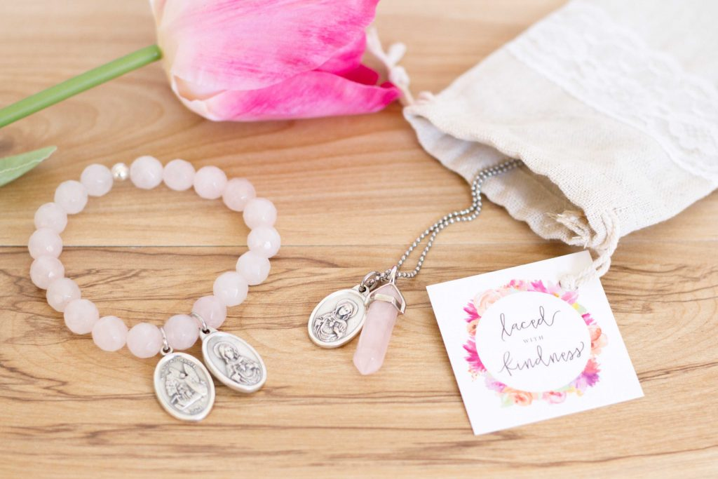 Flat lay jewellery product photography