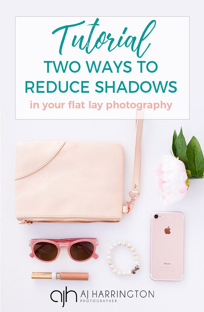 Reduce shadows in flat lay pinterest