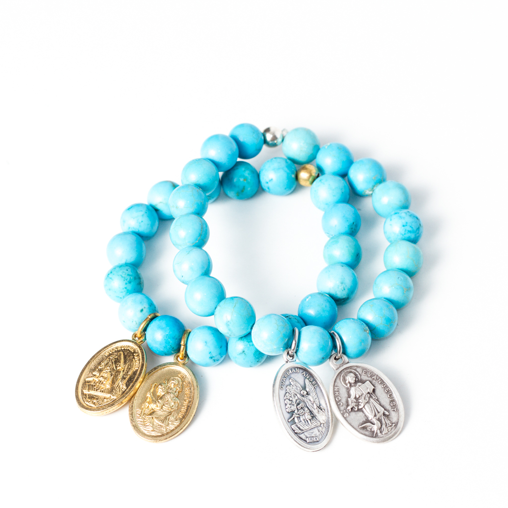 Laced with Kindness Blue Howlite bracelets