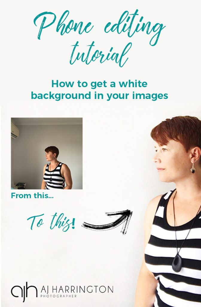 phone editing tutorial to get a white background
