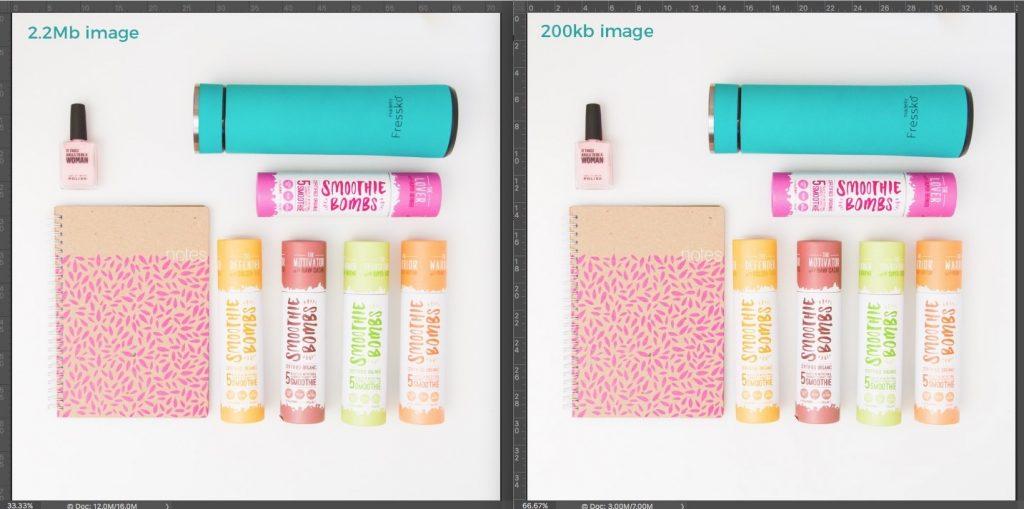optimise images for seo file size comparison